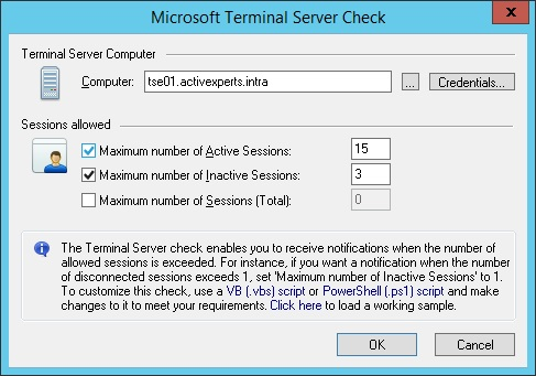 Monitor Microsoft Terminal Server