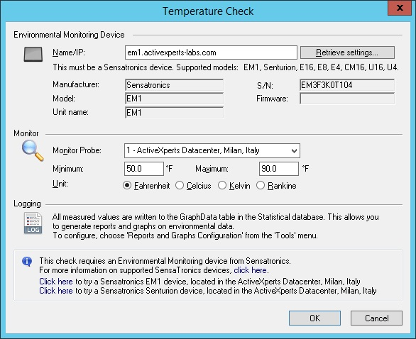 Monitor Temperature
